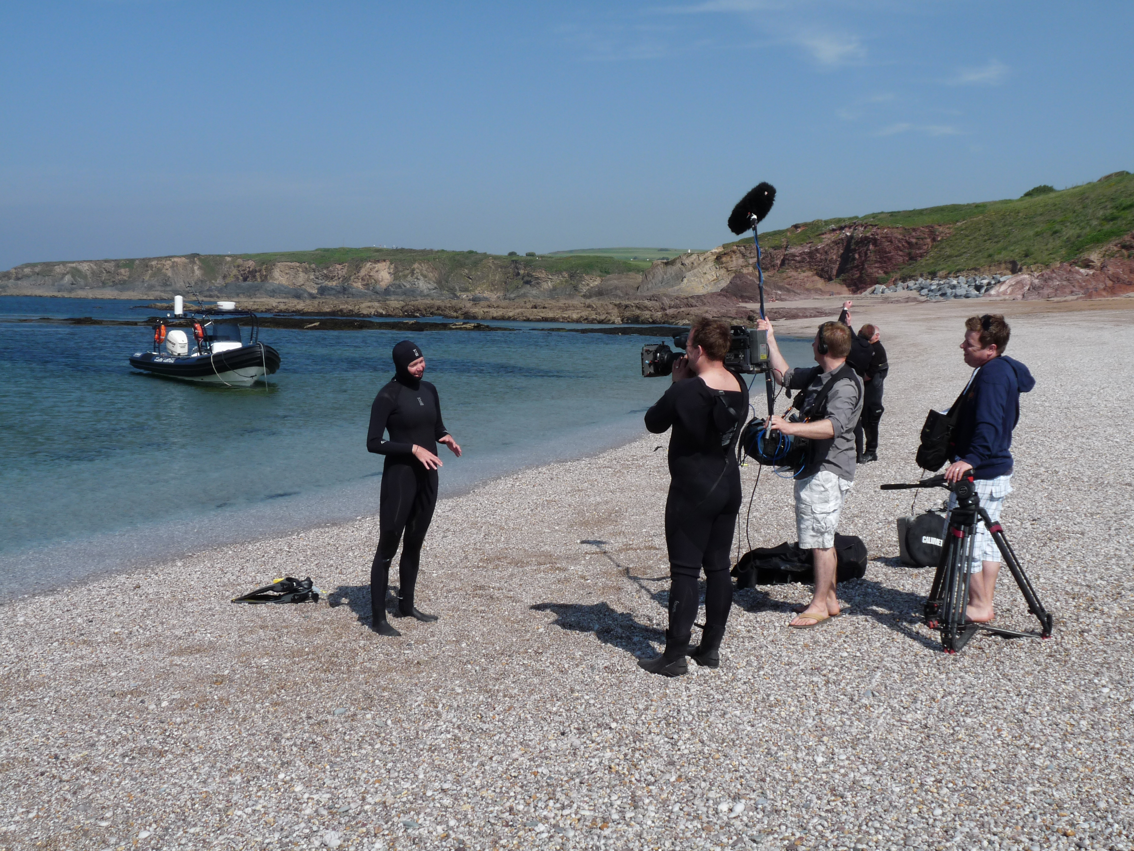 BBC shoot at Thurlestone with Jodie Kidd