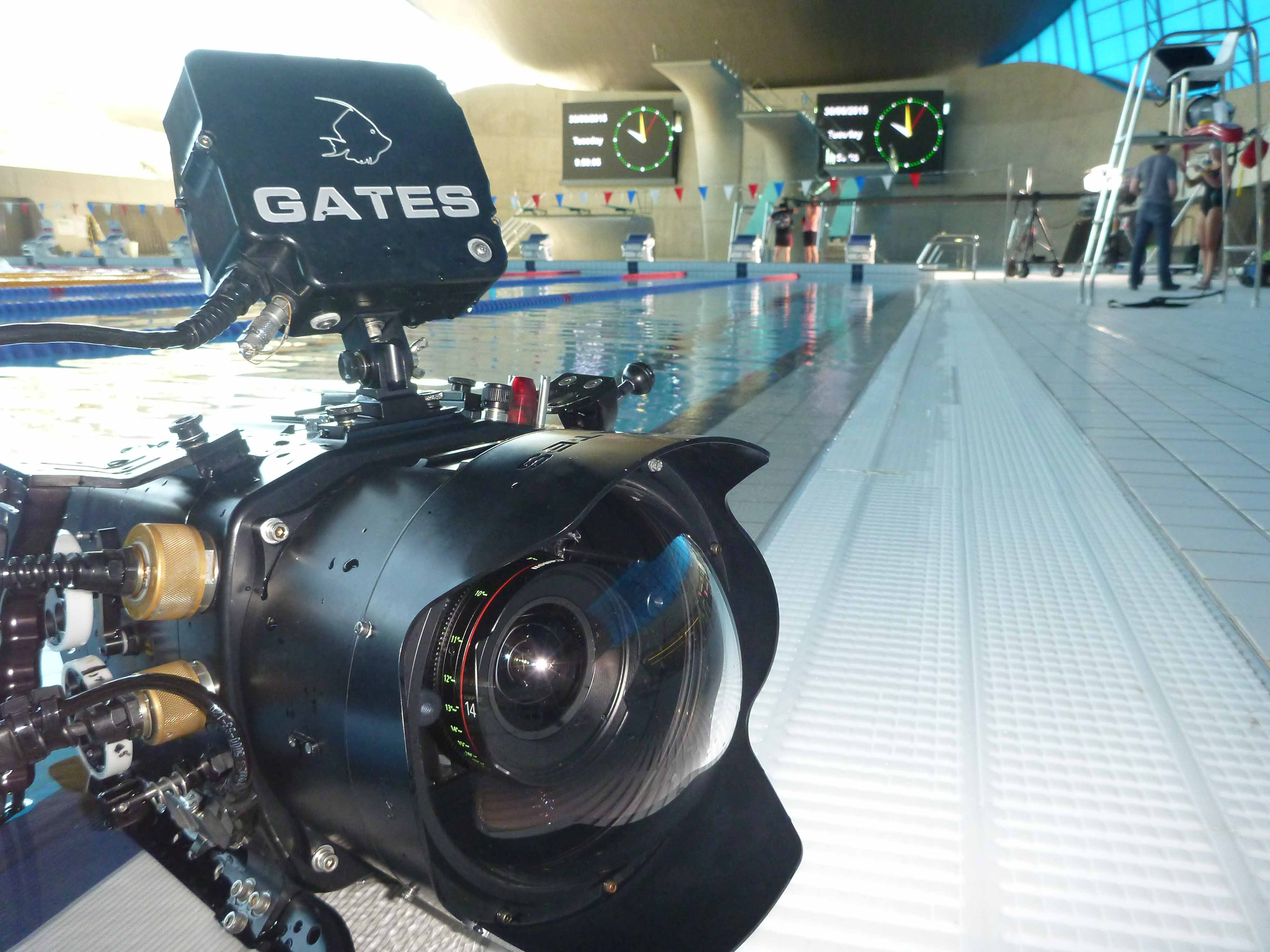 Red Epic dragon camera on Speedo shoot